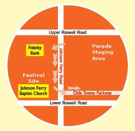 EAST COBBER Parade Route