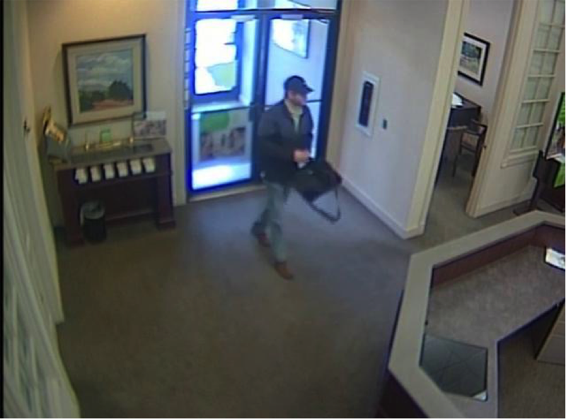 COBB COUNTY POLICE SEARCH FOR BANK ROBBERY SUSPECT