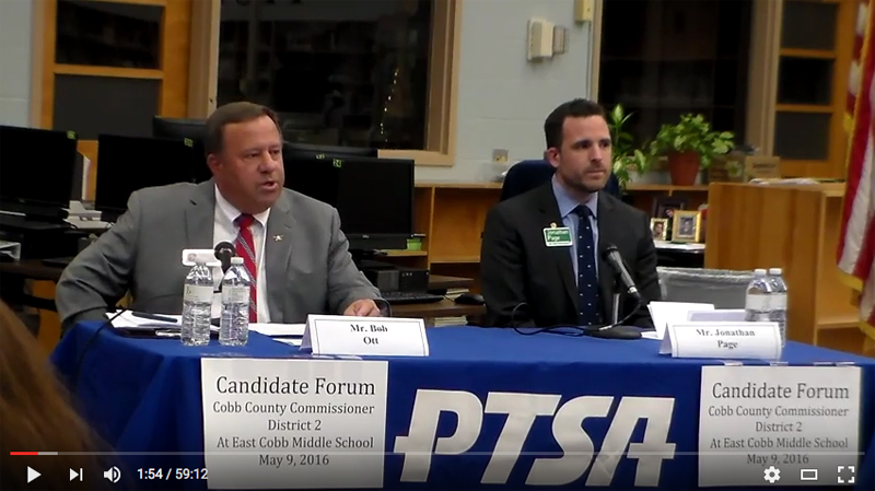 VIDEO OF THE WEEK: COBB COUNTY DISTRICT 2 CANDIDATE FORUM