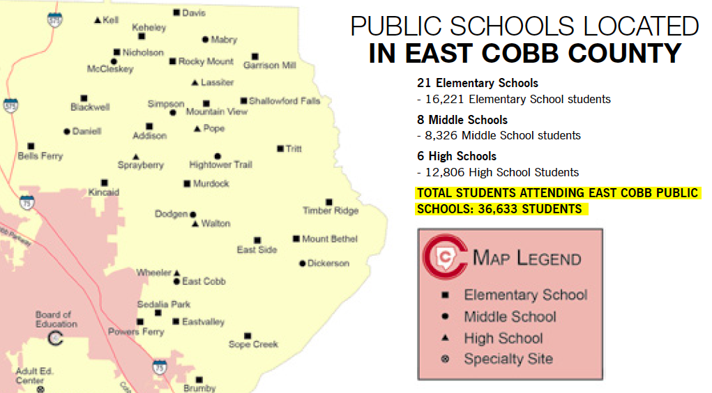 Public Schools Located in East Cobb County