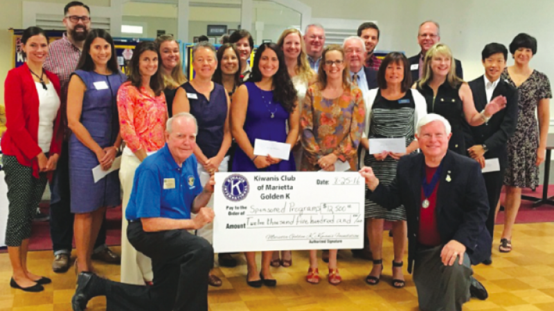 Golden K Kiwanis Presents $12,500 In Charitable Contributions