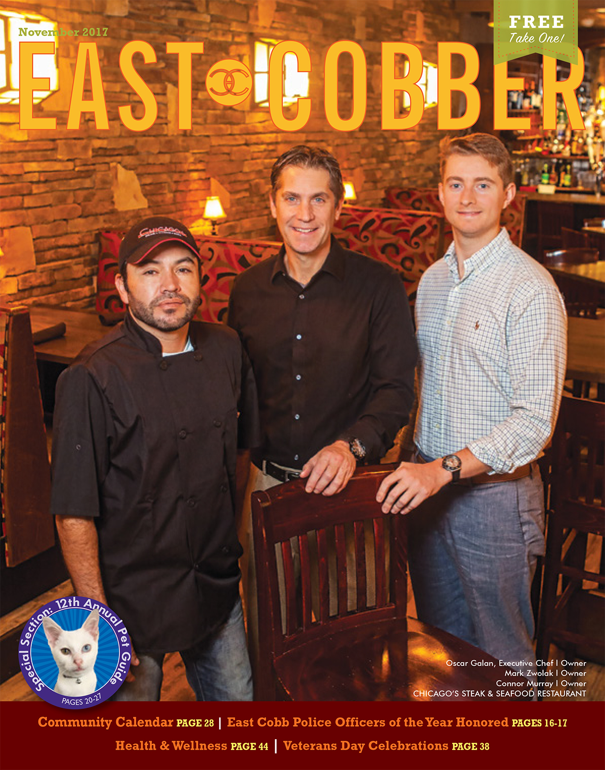Look Who's on the November Cover: Chicago's Steak & Seafood's Owners and Executive Chef