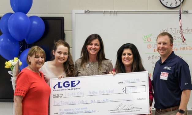 LGE Surprises Walton High School Student with $5,000 Scholarship