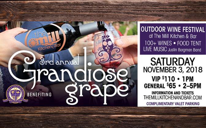 *Facebook Friday Freebie!  Win 2 Tickets to the Grandiose Grape Wine Festival!