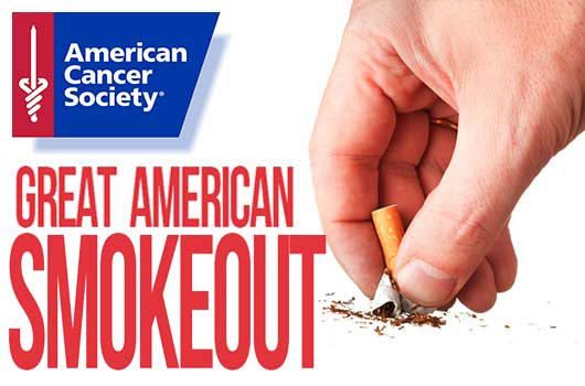 THE GREAT AMERICAN SMOKEOUT: NOVEMBER 15