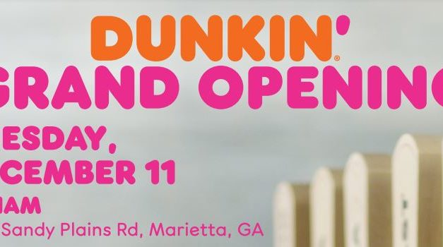 Dunkin' to Host Grand Opening Celebration for First Next Generation Concept Store in Georgia
