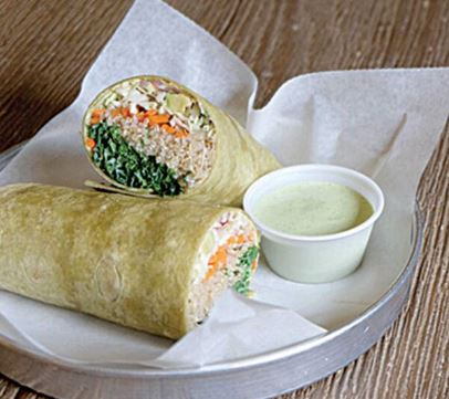 DELICIOUS DISH OF THE MONTH: VEGAN WRAP 1